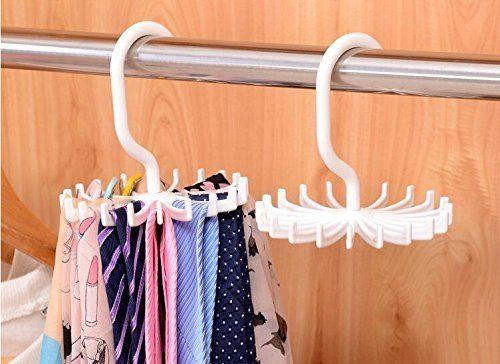Amgateeu Twirl Tie Rack Belt Scarf Hanger Holder Hook