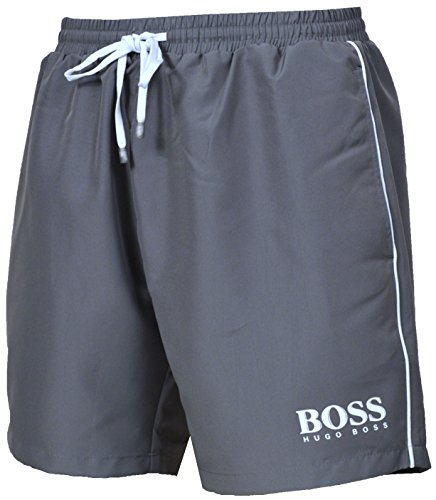 Hugo Boss Mens Starfish Swim Shorts Grey Mens Casual Shorts Shop Mens Shorts COLOUR-grey