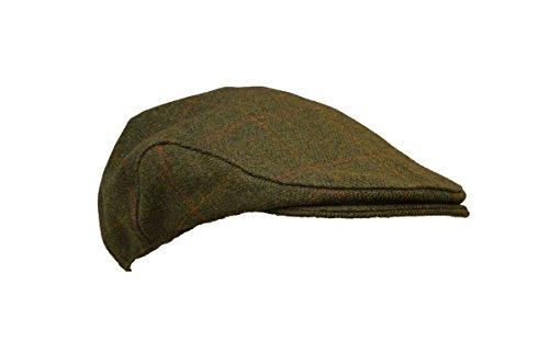 57c75031aae ... Uni-Sex Derby Waterproof Tweed Flat Cap Country Hat – Dark Sage. Sale!
