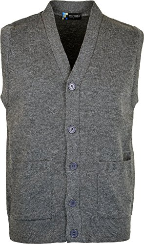 Mens Sleeveless Cardigan Knitted Button Waistcoat Classic ...