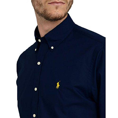 91ebefa4b Ralph Lauren Polo Men s Custom Fit Poplin Shirt White Navy Black S – XXL.  Sale!