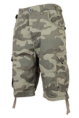 215d26694f7 Mens Crosshatch Crossfin Camo Utility Cargo Shorts – Menswear Warehouse