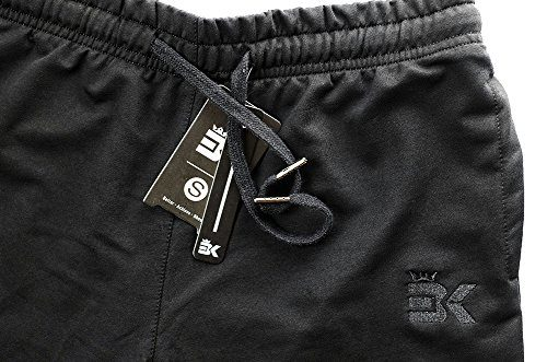2660dc24328d Broki Mens Zip Jogger Trousers – Casual Gym Fitness Tracksuit Bottoms Slim  Fit Chinos Sweat Pants (Black)