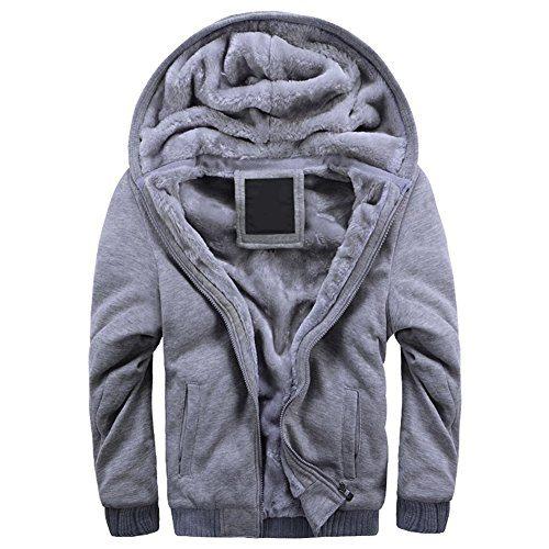 43ba457c5ae MANLUODANNI Men s Thick Warm Fleece Hoodie Sweatshirt Hooded Pullover  Jumper Jacket. Sale!