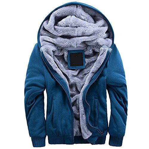 7fe4f69707d MANLUODANNI Men s Thick Warm Fleece Hoodie Sweatshirt Hooded Pullover  Jumper Jacket – Menswear Warehouse