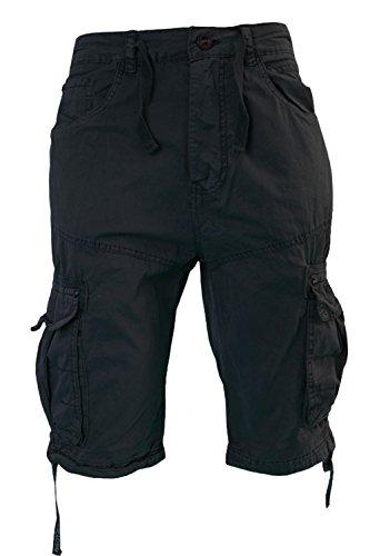 cfa6d7ba76 Mens Crosshatch Oprah Twill Button Up Cargo Shorts Knee Length Combat Pants  – Menswear Warehouse