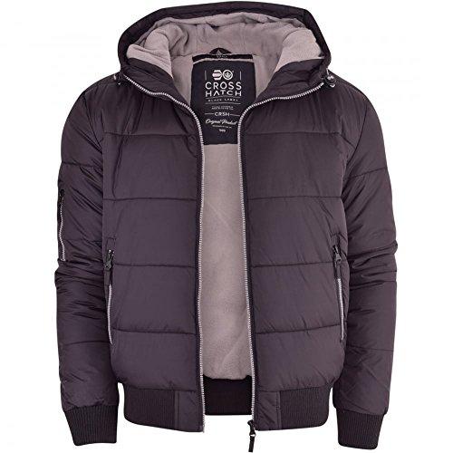 Mens Crosshatch Althorpe Quilted Padded Hood Jacket