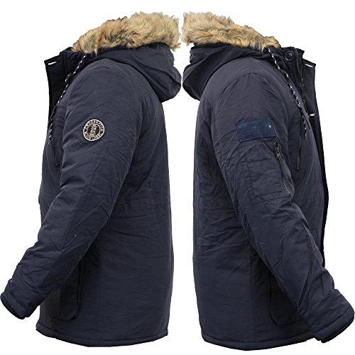 New Crosshatch Mens Heavy Weight Fur Hood Jacket Parka