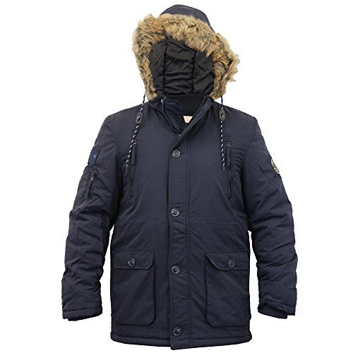 dbce99be1209 New Crosshatch Mens Heavy Weight Fur Hood Jacket Parka Padded Waterproof  Winter Quilted Coat