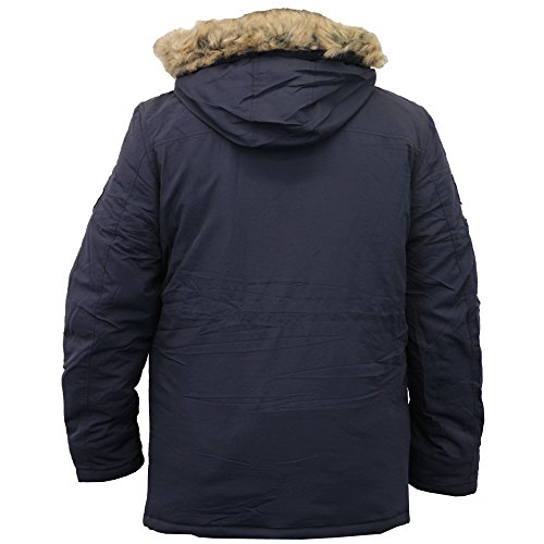 c40a378362f88 New Crosshatch Mens Heavy Weight Fur Hood Jacket Parka Padded Waterproof  Winter Quilted Coat