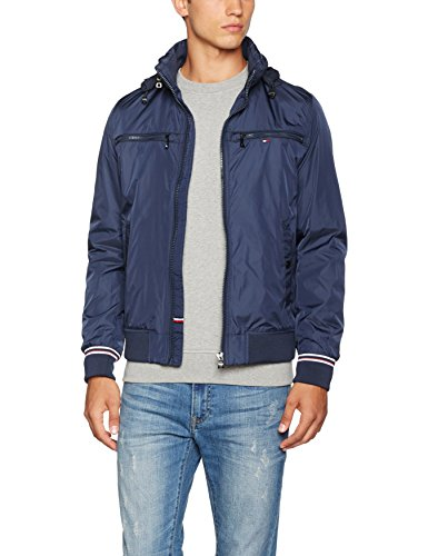 ffd167fa Tommy Hilfiger Men's Bomber Jacket – Exclusively for Amazon – Menswear  Warehouse