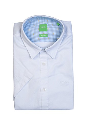 6a649a087 Hugo Boss Green Mens C-Busterino Plain White Short Sleeve Shirt M White