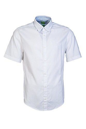 fcac87bc7 Hugo Boss Green Mens C-Busterino Plain White Short Sleeve Shirt M White –  Menswear Warehouse