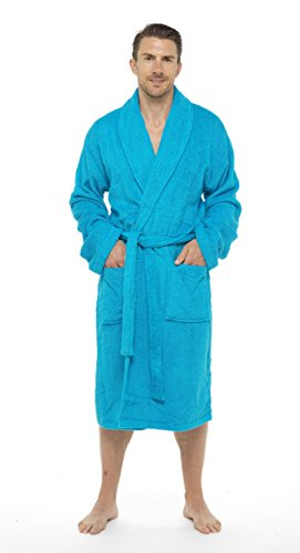 a8f87aee83 Men Towelling Robe 100% Cotton Terry Towel Bathrobe Dressing Gown Bath  Perfect for Gym Shower Spa Hotel Robe Holiday Size M L