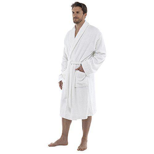 Best Mens Gym Towel: Men Towelling Robe 100% Cotton Terry Towel Bathrobe