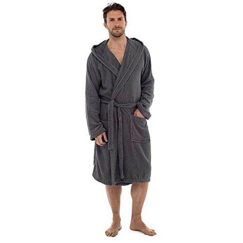 e3edaea47b Men Towelling Robe 100% Cotton Terry Towel Shawl Collar Bathrobe Dressing  Gown Bath Robe Perfect for Gym Shower Spa Hotel Holiday