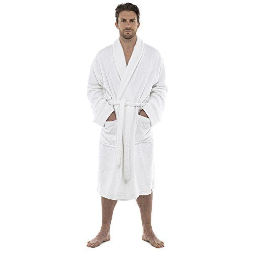 a7f5711a7f Men Towelling Robe 100% Cotton Terry Towel Bathrobe Dressing Gown Bath  Perfect for Gym Shower Spa Hotel Robe Holiday Size M L