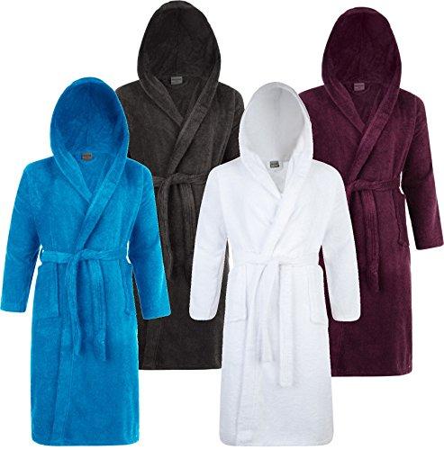 5ca57aef4f Adore Home Mens   Ladies 100% Cotton Terry Towelling Hooded Shawl Collar  Bathrobe Dressing Gown Bath Robe