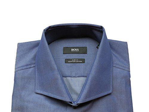 New hugo boss mens dark navy blue egyptian cotton smart for Hugo boss jason shirt
