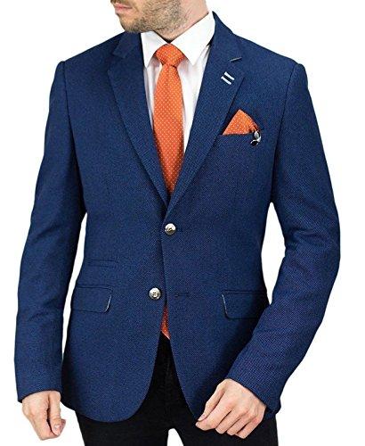 f5ccd2ae4e9 Mens Cavani Designer Blazer Slim Fit Wool Mix Tweed Herringbone Smart Formal  Dinner Coat Jacket 5 Styles – Menswear Warehouse