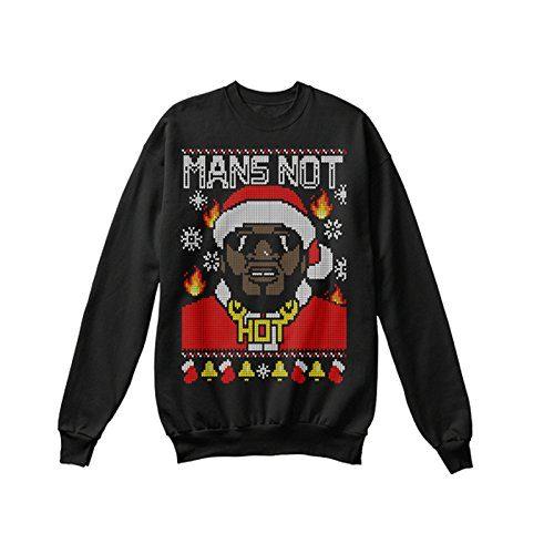 Mens Big Shaq Sweater Jumper MAN/'S NOT HOT
