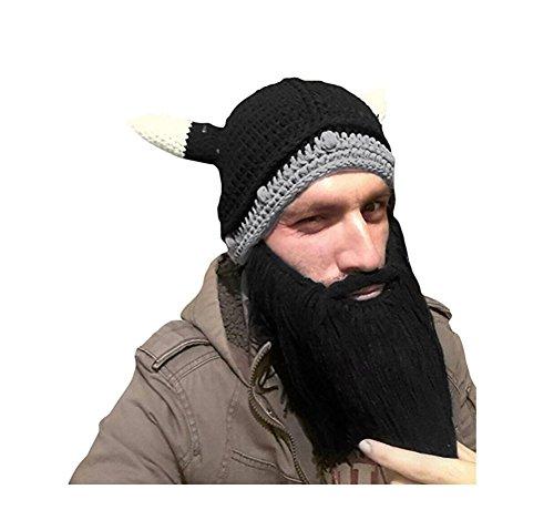 dfc786f1e1f7 Qingsun Winter Autumn Warm Unisex Funny Hat Knitted Woolen Beard Mustache  Hat Viking Crochet Hats Cap Party Costumes Accessories