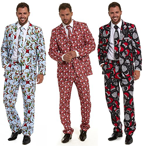 Christmas Suit.Lekeez Stag Do Suit Christmas 2018 Novelty Fancy Stand Out Dress Xmas Costume