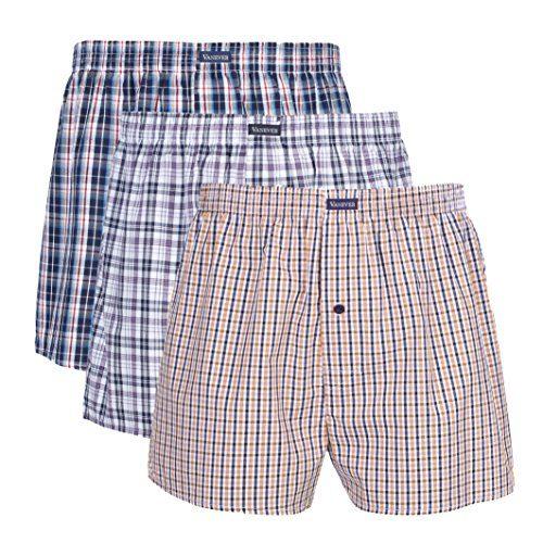 Mens Wolsey  Denim Cotton Vintage Woven Boxer Shorts Underwear