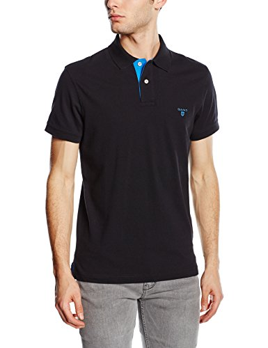 new styles 1cd07 5619c Gant Men's CONTRAST COLLAR PIQUE SS RUGGER Polo Shirt